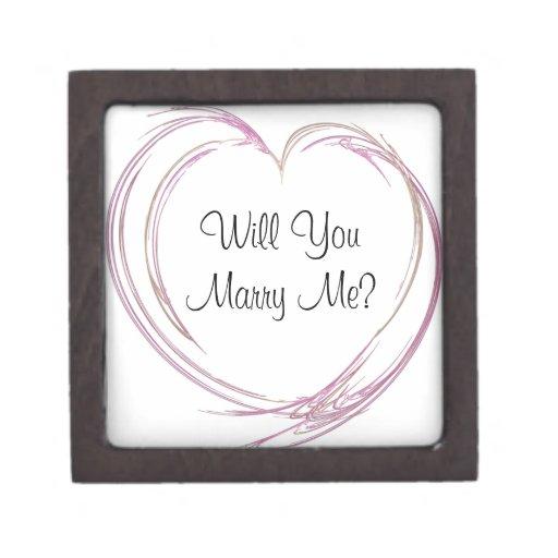 Usted me casará caja rosada del anillo de compromi cajas de recuerdo de calidad