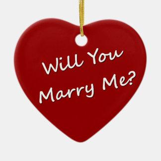 ¿Usted me casará? Compromiso de la propuesta de ma Ornamento De Navidad