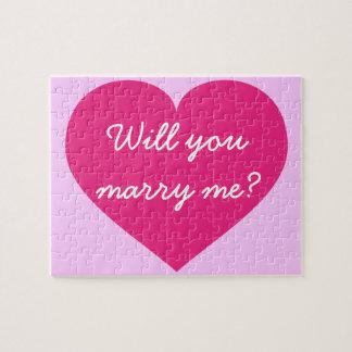 ¿Usted me casará? corazón de las rosas fuertes Puzzles