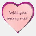 """""""Usted me casará?"""" corazón Colcomanias De Corazon Personalizadas"""