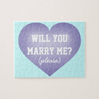¿Usted me casará? corazón Rompecabezas