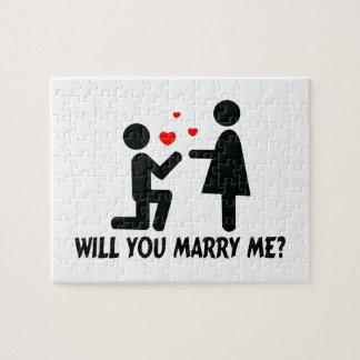 Usted me casará dobló el hombre y a la mujer de la puzzle