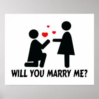 Usted me casará dobló la mujer de la rodilla y a l impresiones