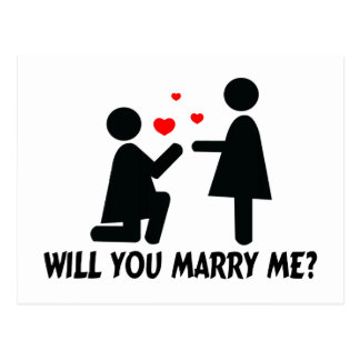 Usted me casará dobló la mujer de la rodilla y a tarjeta postal