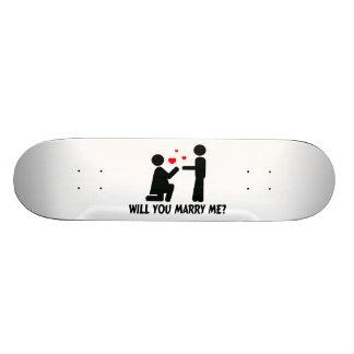 Usted me casará dobló la mujer y al hombre de la patines personalizados