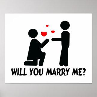 Usted me casará dobló la mujer y al hombre de la r poster
