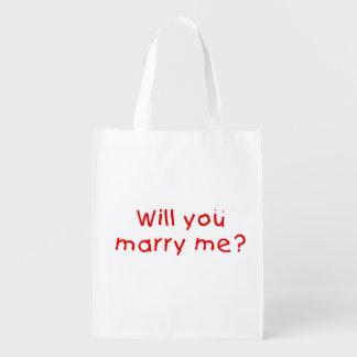 ¿Usted me casará? El botón de la taza empaqueta el Bolsa Para La Compra