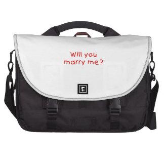 ¿Usted me casará? El botón de la taza empaqueta el Bolsas De Portátil