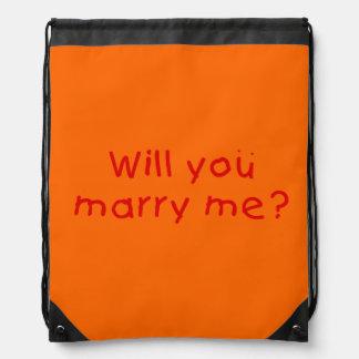¿Usted me casará? El botón de la taza empaqueta el Mochilas