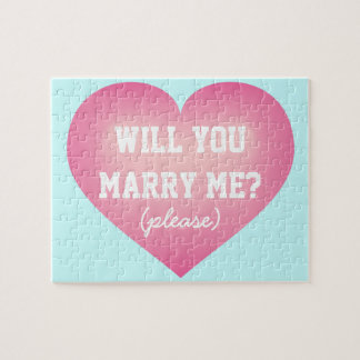 ¿Usted me casará?  el rosa se descolora corazón Puzzle