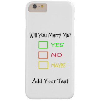 ¿Usted me casará? Funda Barely There iPhone 6 Plus