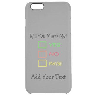 ¿Usted me casará? Funda Clear Para iPhone 6 Plus
