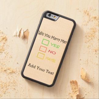 ¿Usted me casará? Funda De iPhone 6 Bumper Arce
