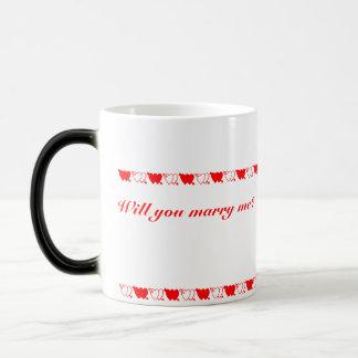 ¿Usted me casará? (mano izquierda) Tazas De Café