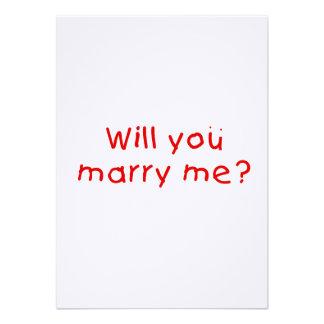 ¿Usted me casará? Pegatina del sello de la Comunicados Personales
