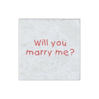¿Usted me casará? Pin de la almohada del imán de Imán De Piedra
