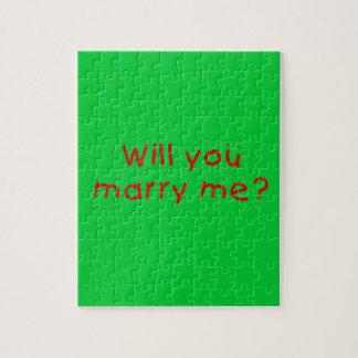 ¿Usted me casará? Pin de la almohada del imán de Rompecabezas