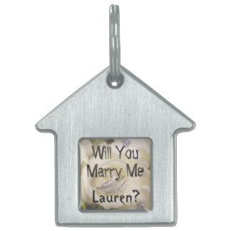 ¿Usted me casará? Placa de identificación de la Placa De Nombre De Mascota