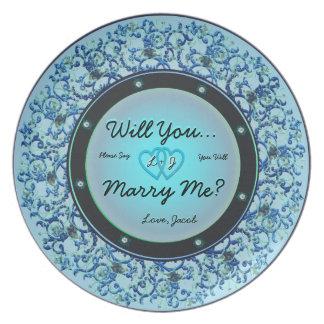 Usted me casará placa platos