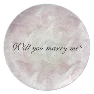 "¿""Usted me casará? "" Plato Para Fiesta"