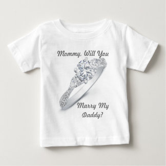 ¿Usted me casará? Playera De Bebé
