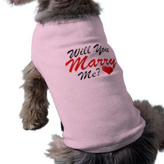 ¿Usted me casará? Playera Sin Mangas Para Perro