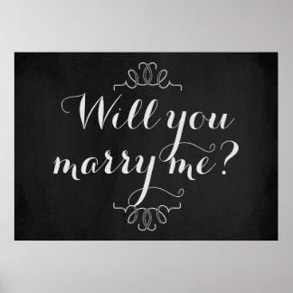 ¿Usted me casará? Poster de la pizarra del