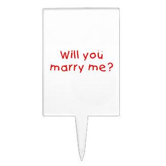 ¿Usted me casará? Primero de la torta de la Decoraciones Para Tartas