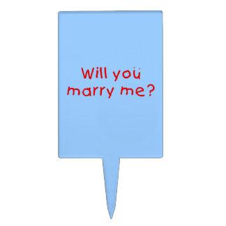 ¿Usted me casará? Primero de la torta de la Decoración De Tarta