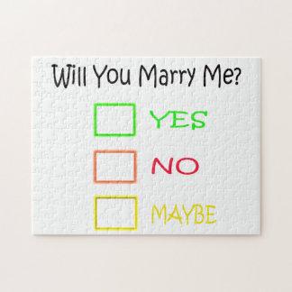¿Usted me casará? Rompecabezas Con Fotos