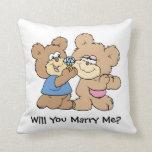 usted me casará que propone el oso de peluche almohadas