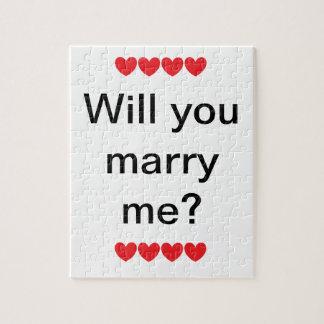 """¿""""Usted me casará? """"Rompecabezas Puzzles Con Fotos"""
