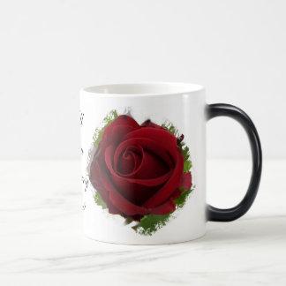 Usted me casará rosa rojo Morphing de la taza