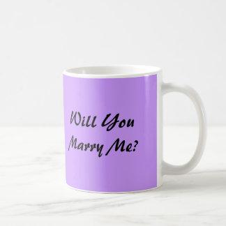 ¿Usted me casará? - taza