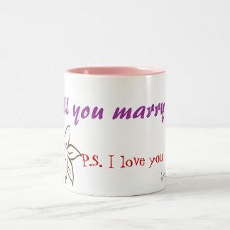 ¿Usted me casará? Taza De Café