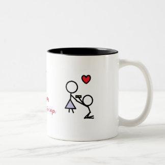 Usted me casará taza de café