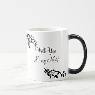 ¿Usted me casará? Taza ocultada del Flourish del