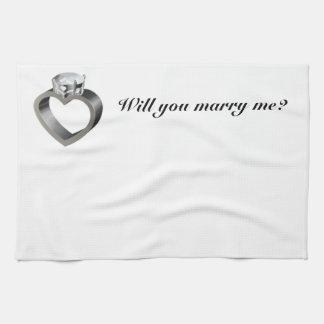 ¿Usted me casará? Toallas De Mano