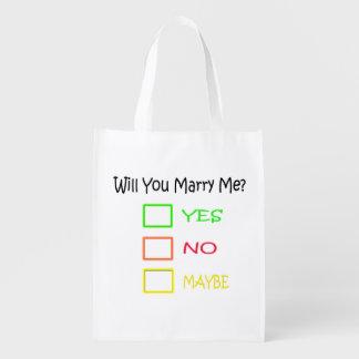 ¿Usted me casará? Bolsa Reutilizable