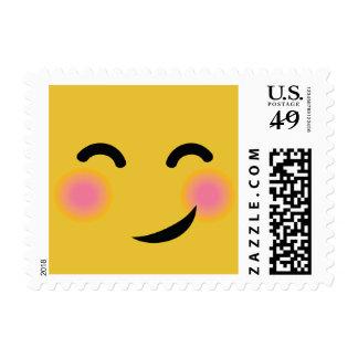 Usted me consiguió emoji de ruborización sello postal
