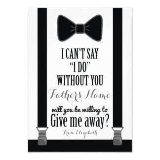 """Usted me dará lejos - el padre de los apoyos del invitación 4.5"""" x 6.25"""""""