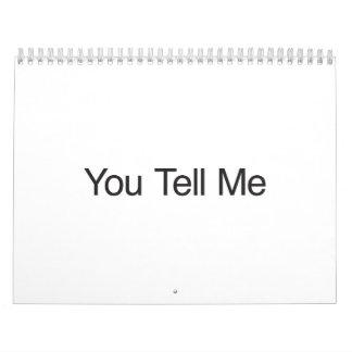 Usted me dice calendario de pared