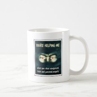 Usted me está ayudando taza
