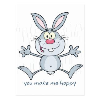 Usted me hace el conejo de conejito de lúpulo tarjetas postales
