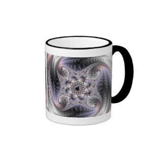 Usted me hace girar alrededor - arte del fractal taza de dos colores