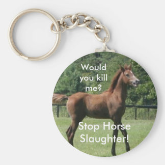 ¿Usted me mataría? ¡, Matanza del caballo de la pa Llavero Redondo Tipo Pin