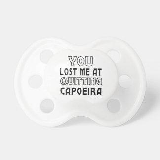 Usted me perdió en el abandono de Capoeira. Chupete