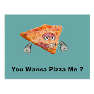 ¿Usted me quiere a la pizza? Postales