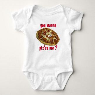 """""""usted me quiere al piz'za?"""" camiseta chistosa de playera"""