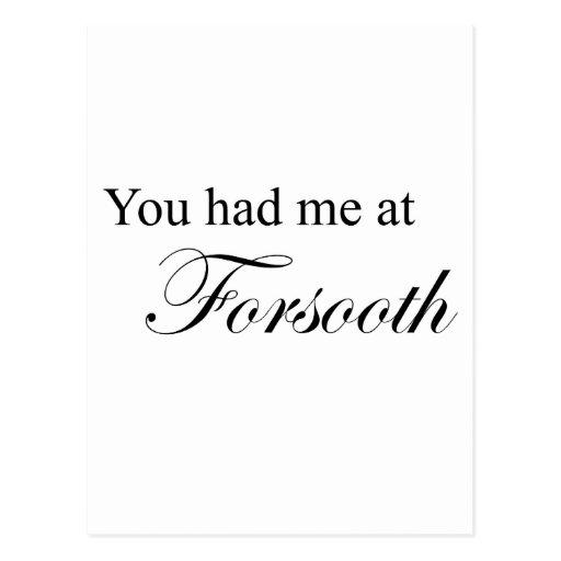 Usted me tenía en ciertamente postal
